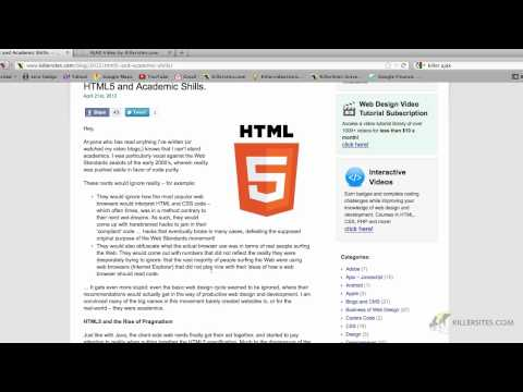 HTML5 Is A Must Learn