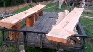 Custom Cedar Benches Built To Order