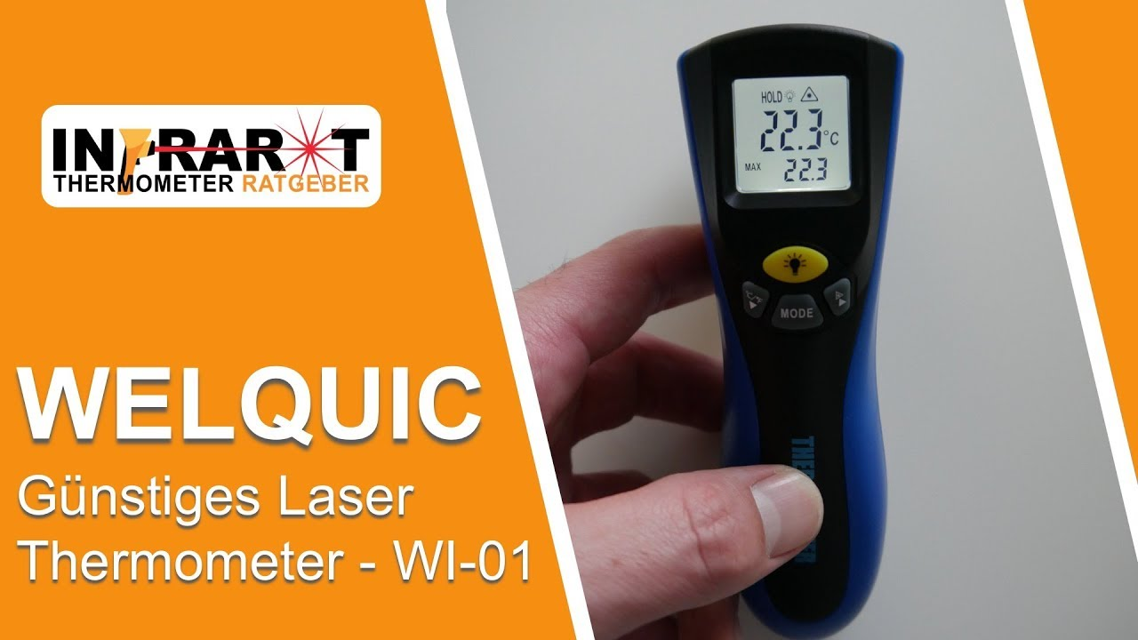 Welquic Laser Thermometer Wi 01 Infrarot Thermometer Test Youtube