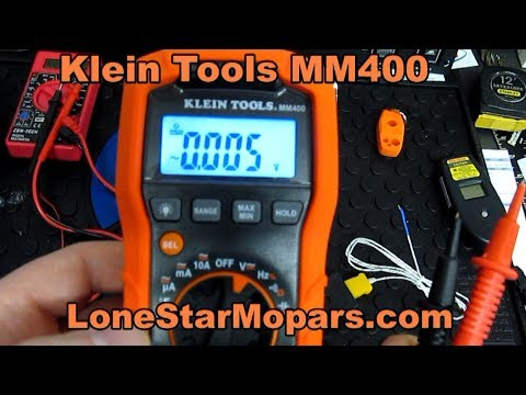 Klein Tools MM400 Auto-Ranging Digital Multimeter with Carrying Case