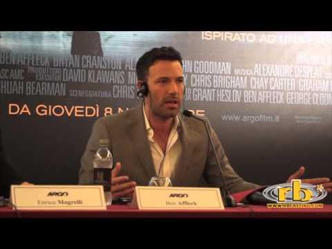 Argo, Ben Affleck, conferenza stampa, RB Casting, WWW.RBCASTING.COM