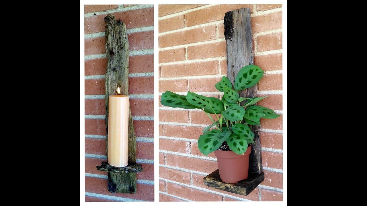 Manualidades con madera de reciclaje portavelas o - Madera para manualidades ...