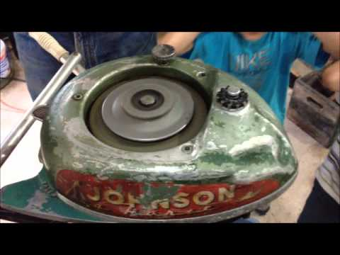How To Start An Outboard Motor Without Pull Start Vintage Johnson Seahorse 5hp Boat 1946 1949