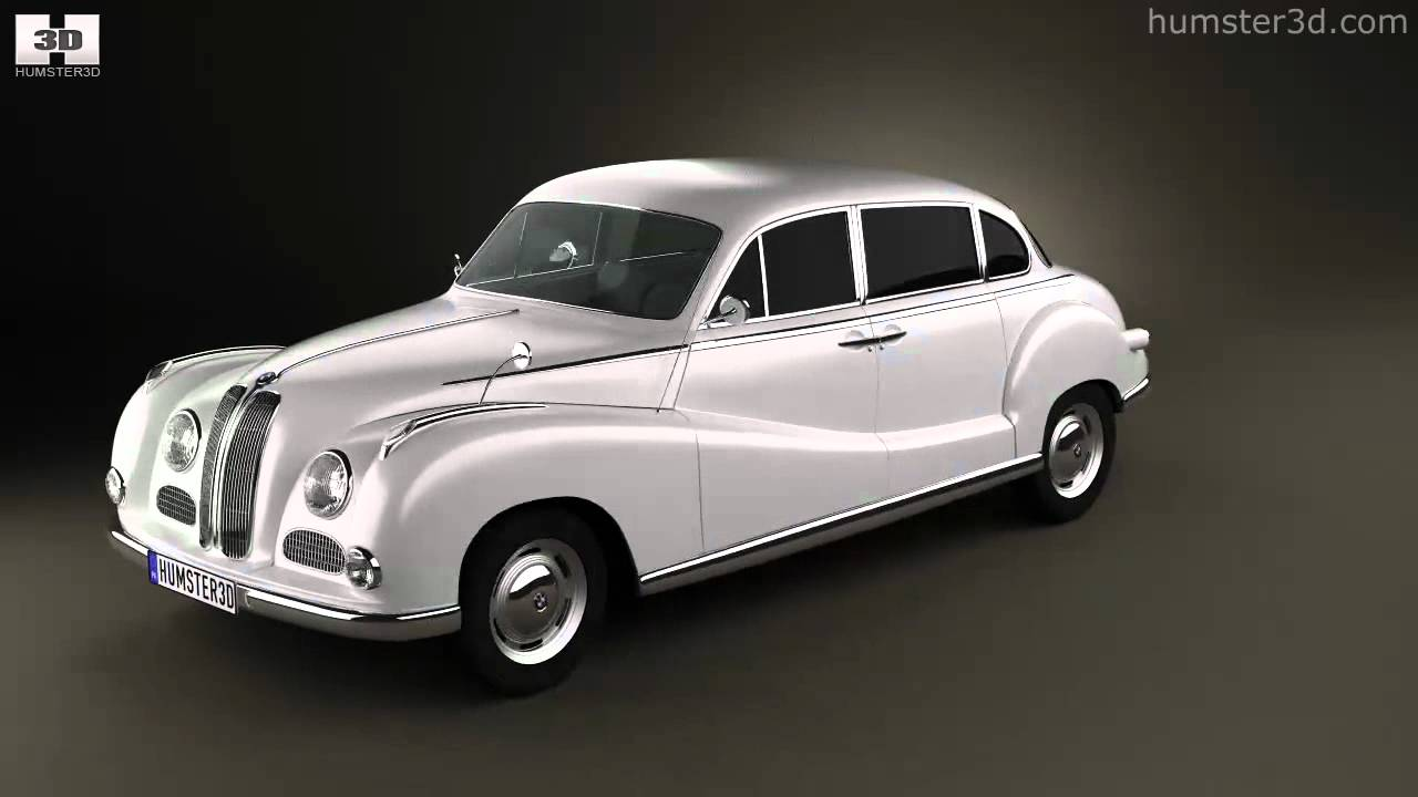 BMW 501 Saloon 1952 by 3D model store Humster3D.com - YouTube