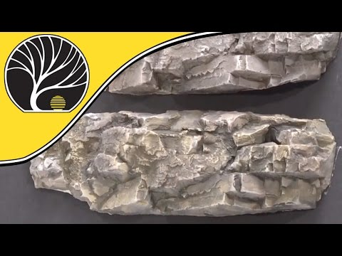 How To Color Plaster Rocks With Earth Colors Liquid Pigments – Modelling Railroad | Woodland Scenics