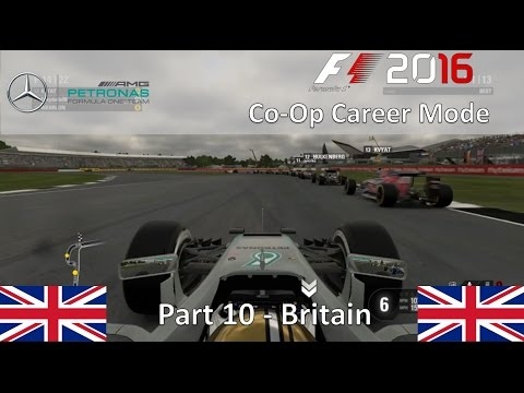 F1 2016 Co-Op Career Mode Part 10 - Britain (The Perfect Strategy)