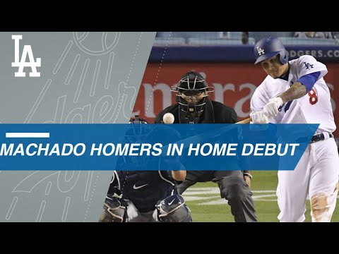 Manny Machado homers in first Dodgers home game
