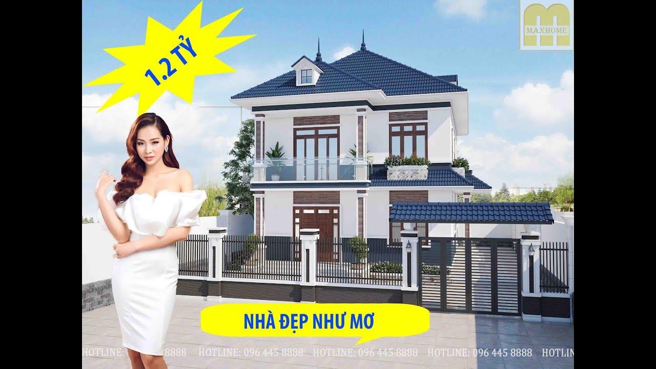 Mẫu nhà 2 tầng mái nhật giá 1,2 tỷ đẹp nhất Phú Thọ