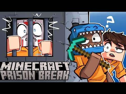 How to BREAK out of prison on MINECRAFT! - (With BasicallyIDoWrk & FourZer0Seven)
