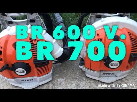 STIHL BR 600 V. STIHL BR 700 [Blower Comparison] (2018)