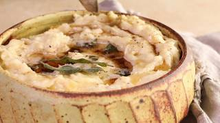 Crockpot THREE CHEESE Mashed Potatoes