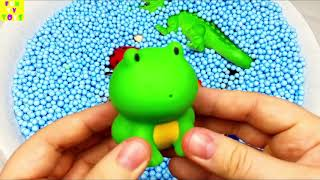 Learn Colors with Zoo Animals and Farm Surprise Toy for Kid Child with Foam Beads 720p