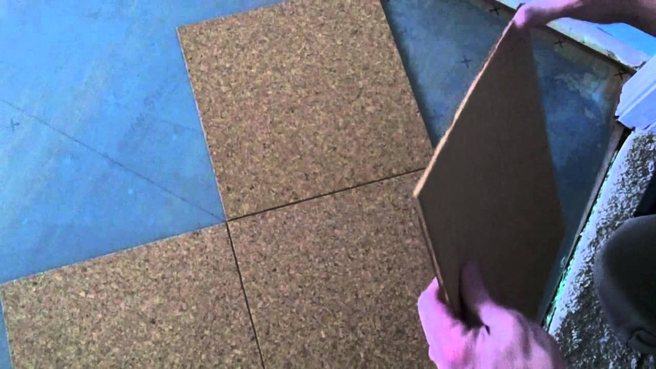 Cork floor install how to install a cork glue down floor youtube dailygadgetfo Image collections