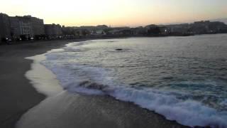 Playa de Riazor y parte del paseo marítimo de Coruña