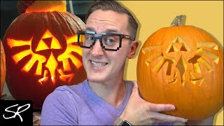 Nintendo Pumpkin Carving CHALLENGE (Halloween 2018) | Zelda Triforce!