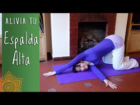 Clase de Yoga, alivia contracturas en Espalda alta -PuntodeYoga- Nivel Principiante