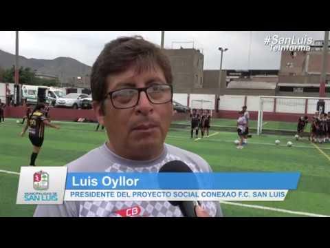 Luis Rubiños, visita Conexão San Luis F. C.