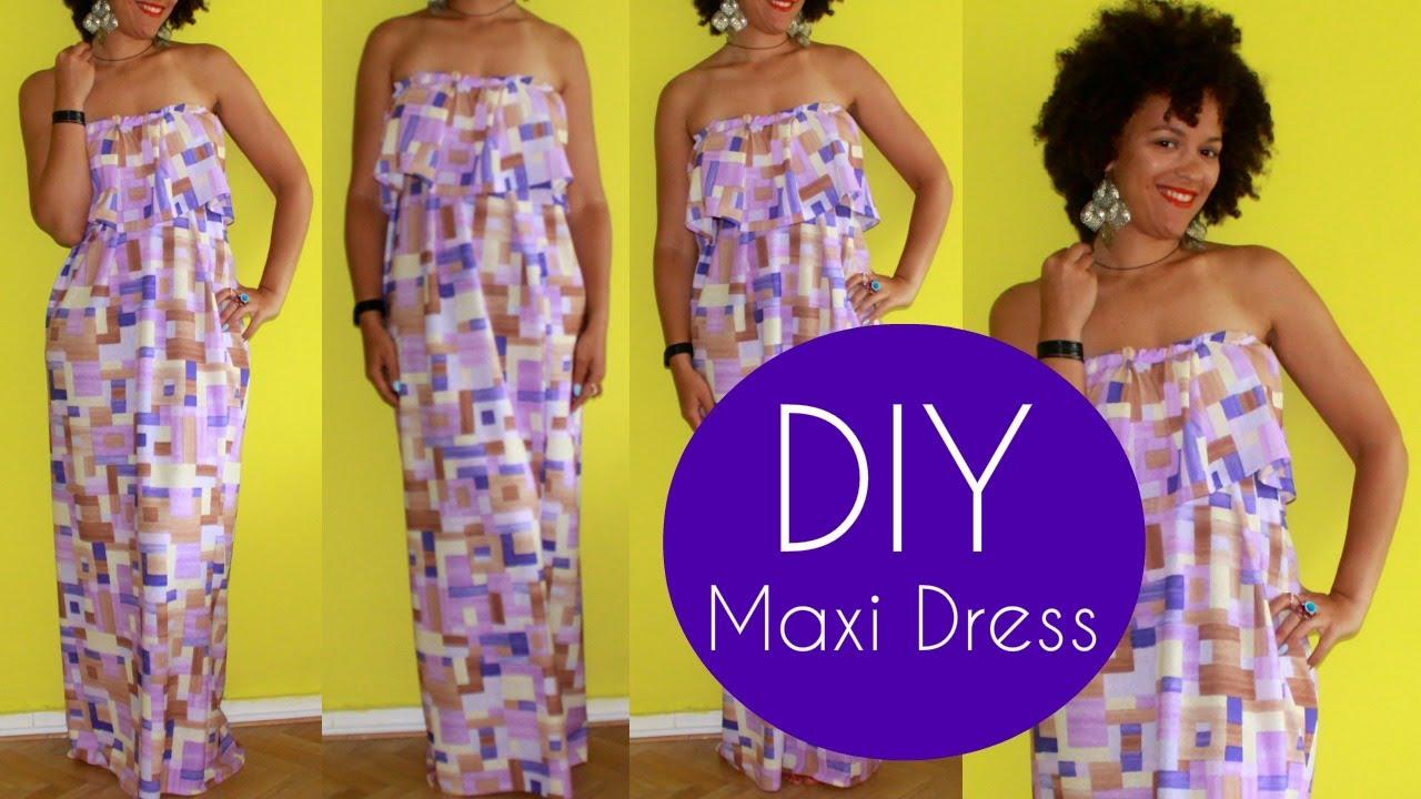 Tube top maxi summer dresses