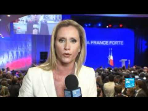 FRANCE 24's Melissa Bell reports from Sarkozy election night HQ in Paris