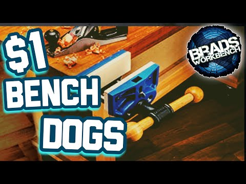 Less Than $1 DIY Bench Dogs that work in ANY Workbench Material