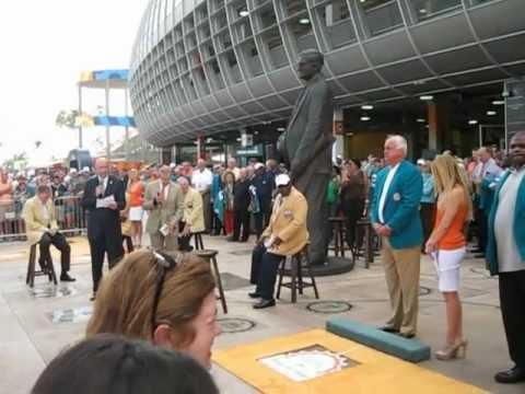 Miami Dolphins Walk of Fame ceremony Dec 16, 2012