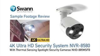 Swann 8MP SWNVK-885804B2FB 4K 2TB 4x NHD-885MSB & 2x 4K Spotlight Cameras video