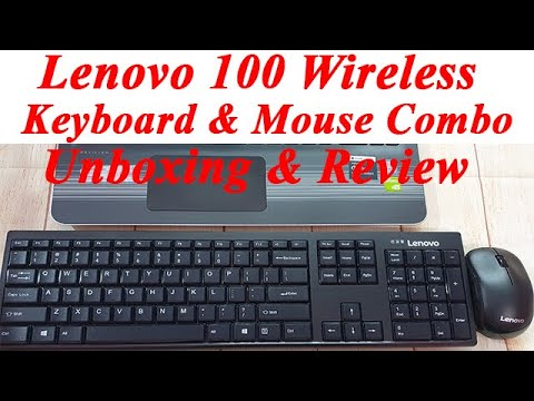 Lenovo 100 Wireless Keyboard  & Mouse Unboxing & Review | KB MICE_BO Combo 100 Eng  Laptop Keyboard