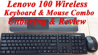 Lenovo 100 Wireless Keyboard amp Mouse Unboxing amp Review KB MICE_BO Combo 100 Eng Laptop Keyboard