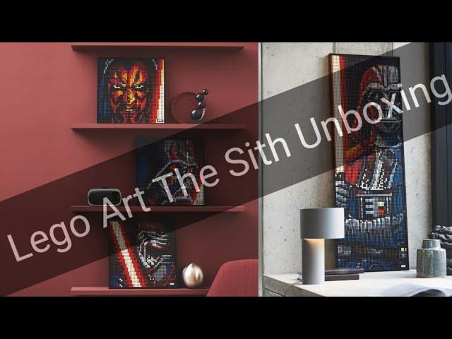 Immer zu dritt sie sind... Umboxing des LEGO Art Star Wars 31200 The sith Mosaiks