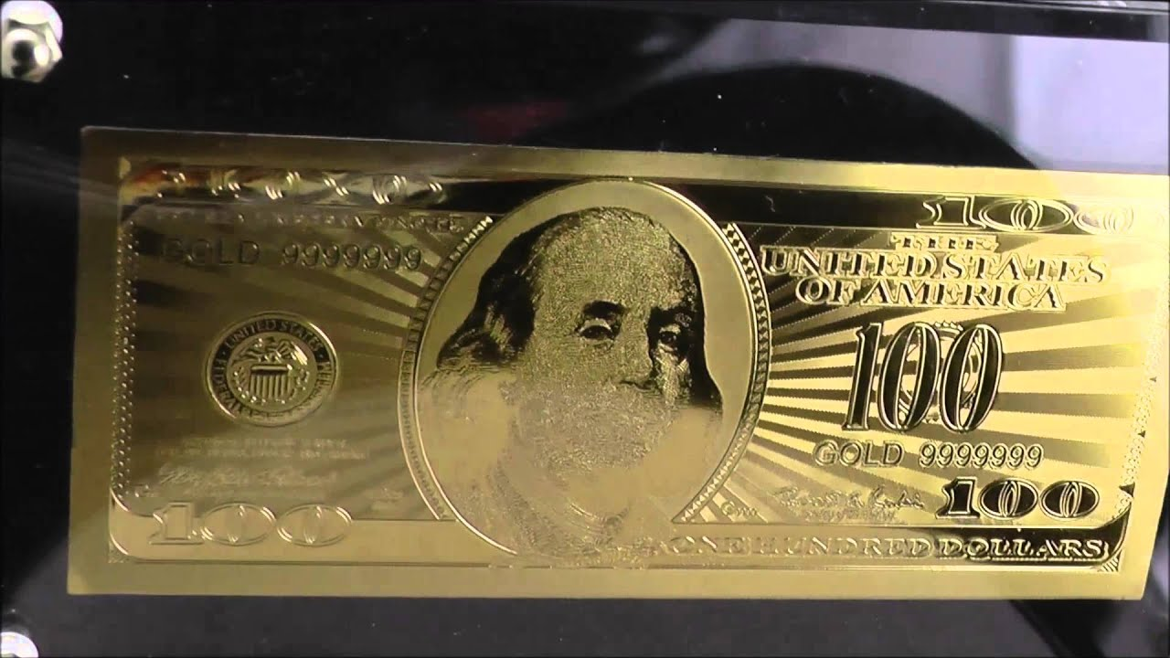 Gold Plated 100 Dollar Note Youtube