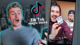 Magician Reacts to CRAZY MAGIC TRICKS on TIKTOK!!
