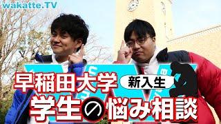 早稲田大学で新入生のお悩みにフォーカスあててみた【wakatte.TV】#329