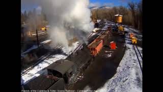 11/01/2018 A work train of ballast hoppers leaves Chama, NM