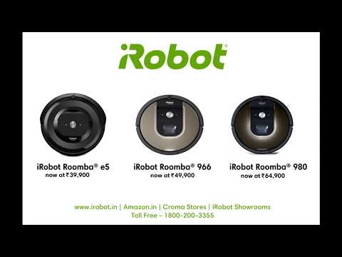 Discounts on iRobot Roomba® Vacuum Cleaners in India. Works with Alexa