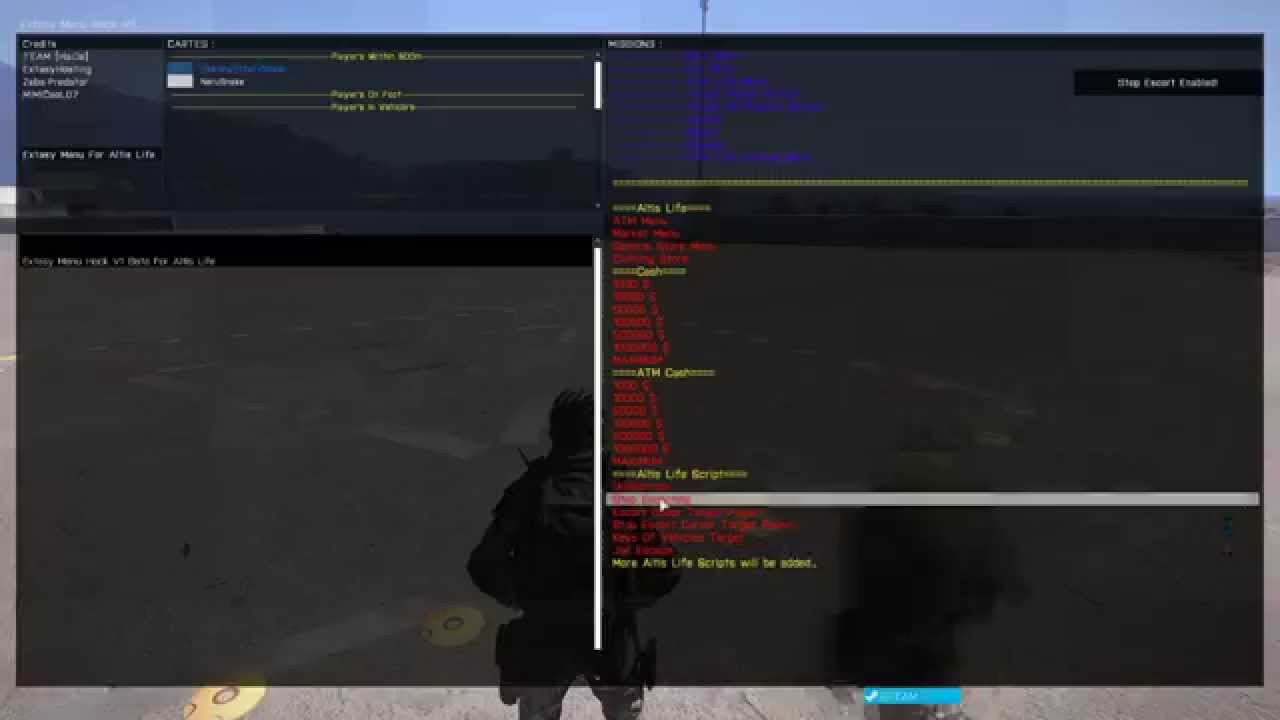 Arma 3 - Extasy Menu Hack For Altis Life by ExtasyHosting
