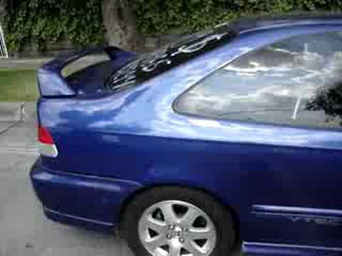Civic SIR 1999 Azul Gitano - YouTube