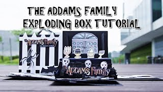 EXPLODING BOX FULL TUTORIAL - THE ADDAMS FAMILY THEME