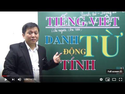 [Tiếng Việt nâng cao lớp 4 5 ] ÔN TẬP DANH TỪ – ĐỘNG TỪ – TÍNH TỪ – Thầy Khải- SĐT: 0943734664