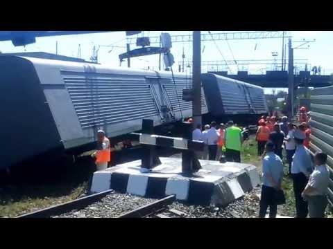 Сход грузового поезда по ст  Саратов 1
