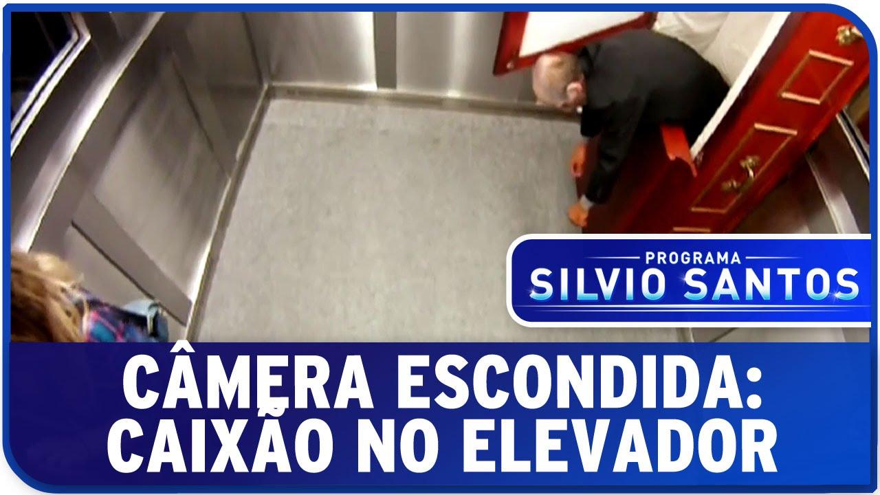 video caixao no elevador