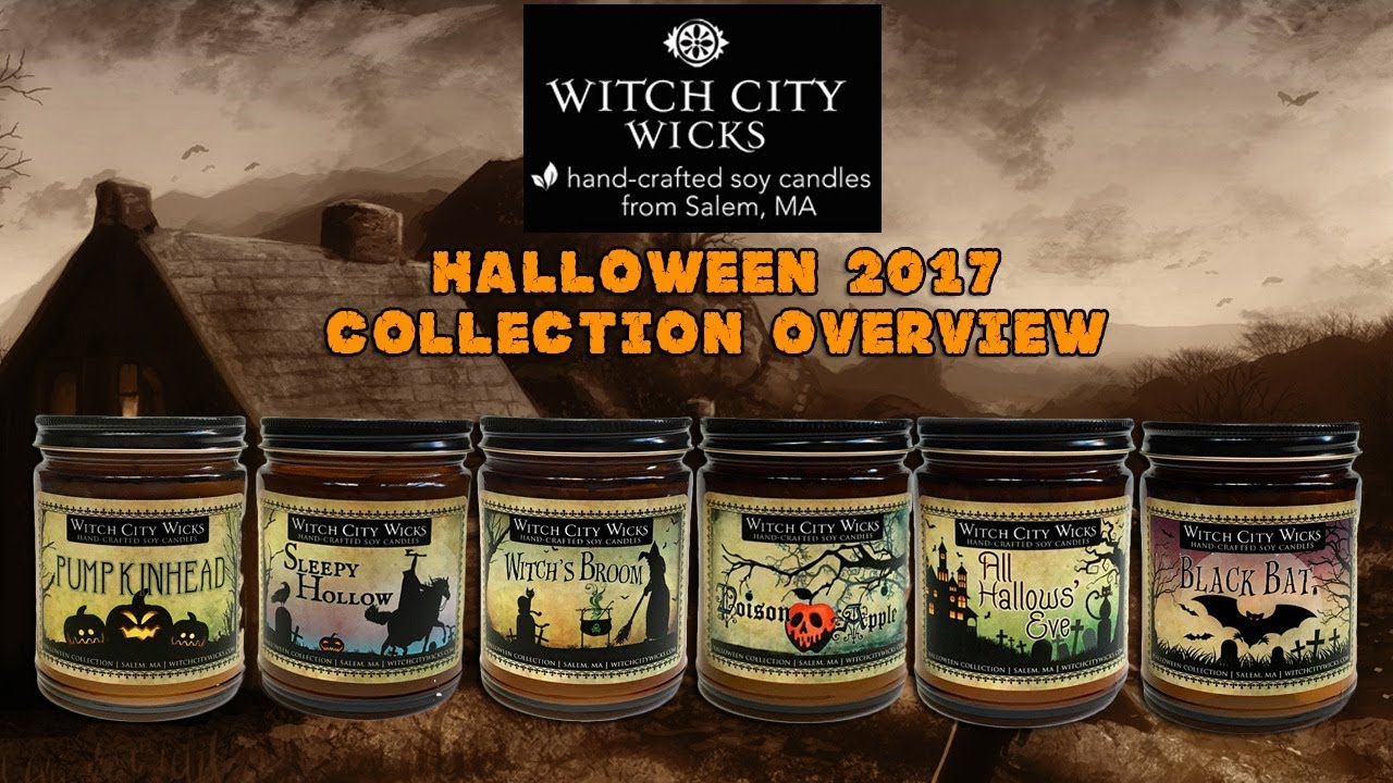 witch city wicks 2017 halloween candle collection overview impressions - Halloween Candles