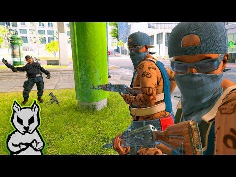 COPS & GANGS STREET WAR | Watch Dogs 2 Free Roam