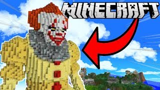 PAYASOS ASESINOS GIGANTES EN MINECRAFT 😱🤡 LOS COMPAS BUILD BATTLE PACHACHOS 😂