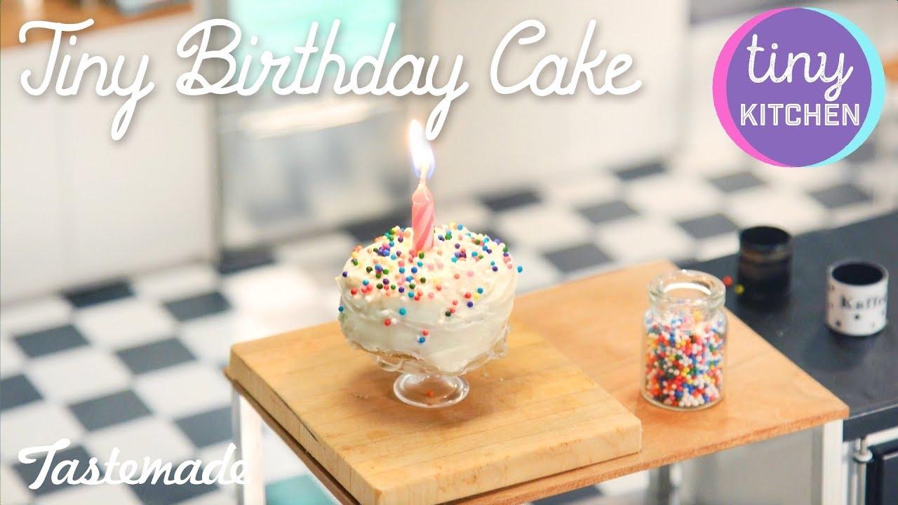 Tiny Rainbow Birthday Cake I Tiny Kitchen Youtube
