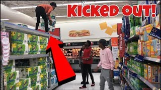 TRYING TO GET KICKED OUT OF WALMART CHALLENGE !!!