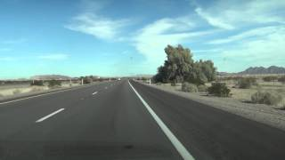 Wellton, Arizona, Mile Marker 34 on I-8 Freeway, 75 mph Speed Limit sign, 15 February 2013