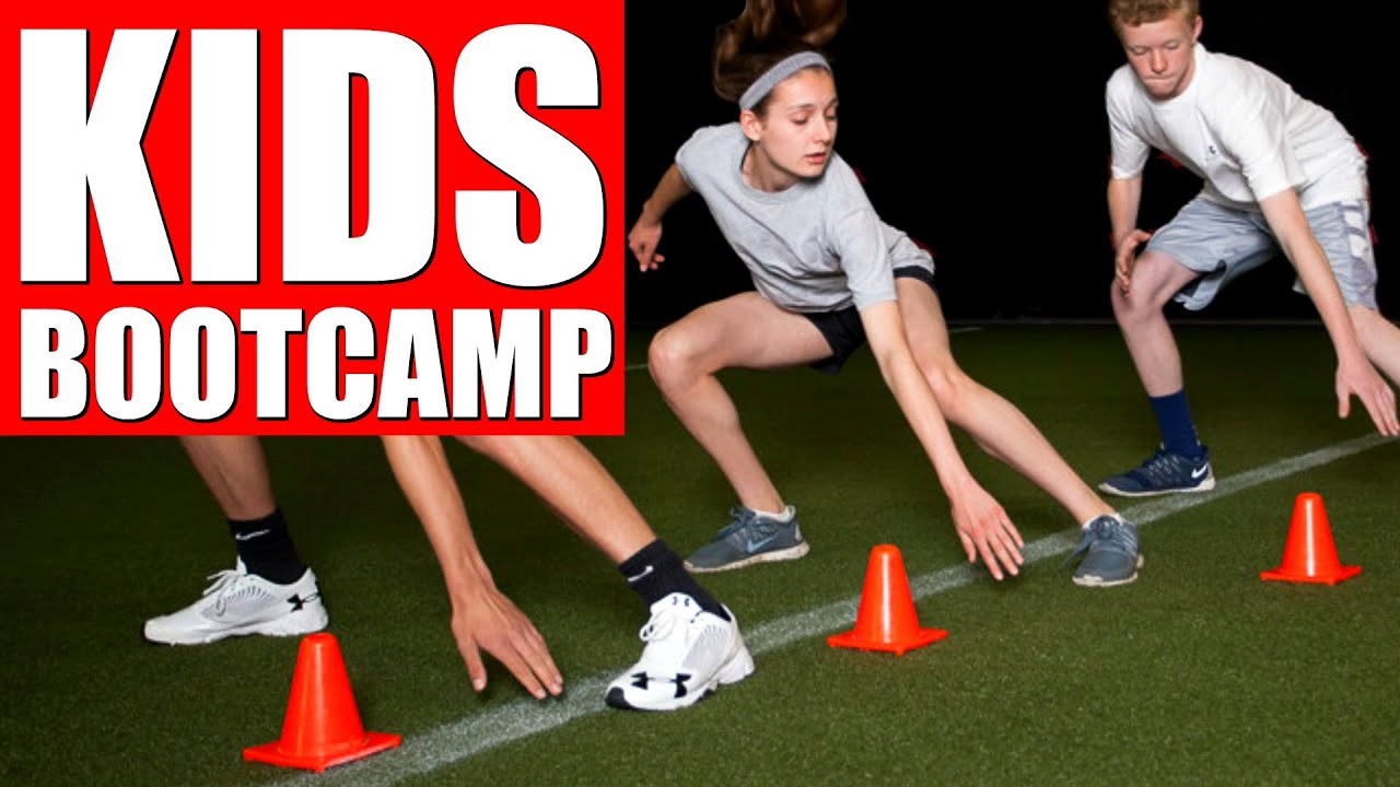 What happens at a boot camp for kids?