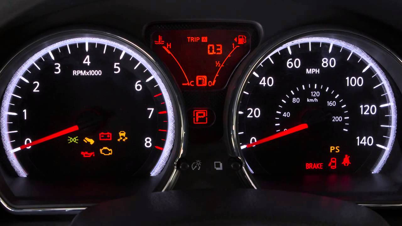 2015 Nissan Versa Note Warning And Indicator Lights Youtube Dashboard Symbols For Toyota Cars