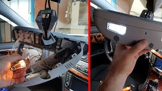 Installing LED Lamps on Rearview Mirrors Mercedes W211, W219 / Replacing Rearview Mirror Lamps