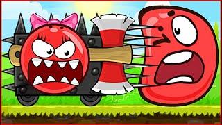 МАШИНА С ТОПОРОМ И ШИПАМИ ! Девочка шар против Красный Шарик ! Игра Red Ball 4 для детей от Спуди !